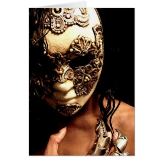 The Masked Greeting Card