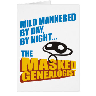 The Masked Genealogist Birthday Card