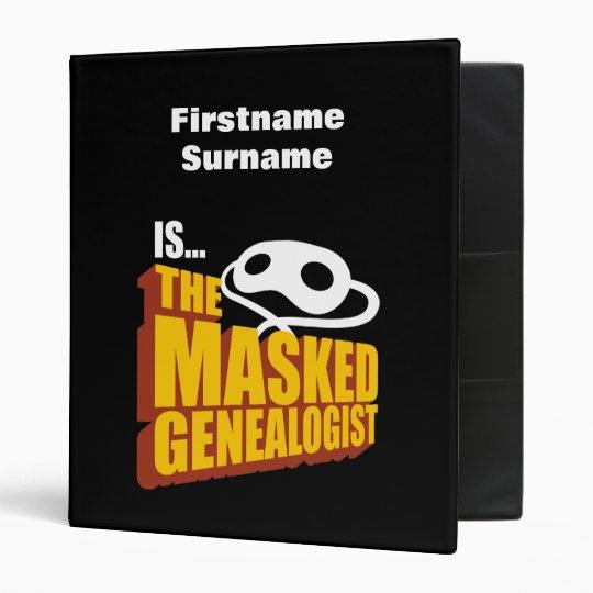 The Masked Genealogist - Custom Binder