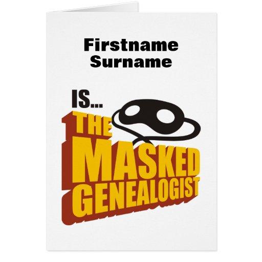 The Masked Genealogist - Custom Card