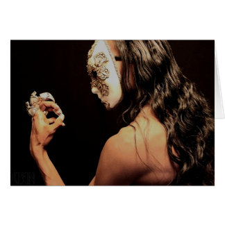 The Masked: Profile Greeting Card