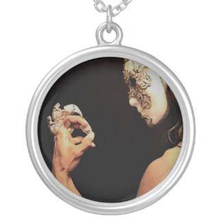 The Masked: Profile Silver Plated Necklace