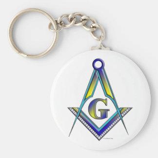 The Mason Basic Round Button Keychain