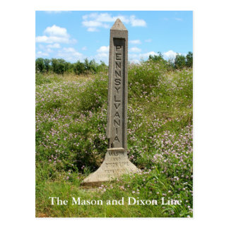 The Mason Dixon Line Postcard
