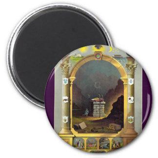 The Masonic Chart 2 Inch Round Magnet