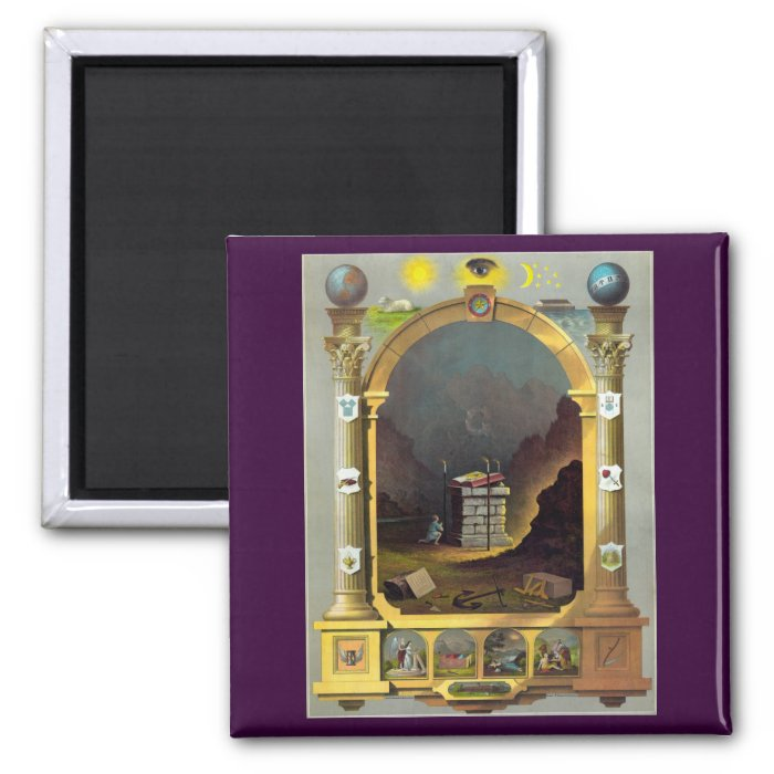 The Masonic Chart 2 Inch Square Magnet