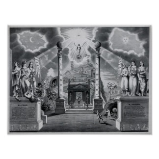 The Masonic Chart (B&W) Posters