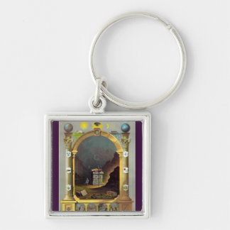 The Masonic Chart Silver-Colored Square Keychain