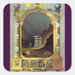 The Masonic Chart Square Sticker