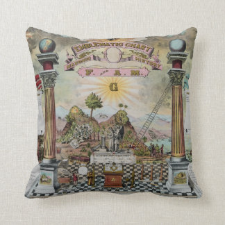 The Masonic Chart Throw Pillow
