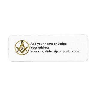 The Masonic Circle Label