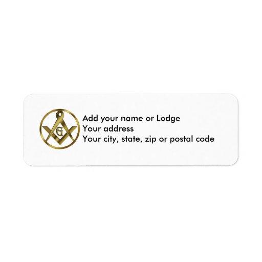 The Masonic Circle Return Address Labels
