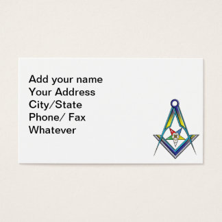 Eastern star business cards templates zazzle the masonicoes card reheart Image collections