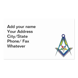 The Masonic/OES Card Business Card Templates