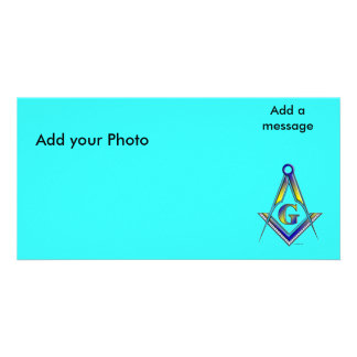 The Masonic Symbol, Add your Photo, Add a message Photo Card Template