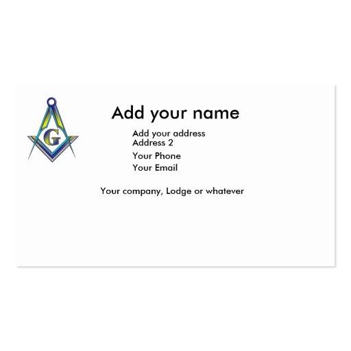 Free mason business card templates bizcardstudio the masoniic card business card reheart Image collections