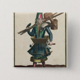 The Mason's Costume Pinback Button