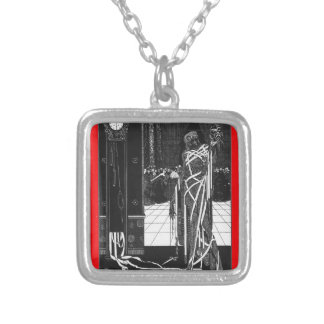 The Masque of the Red Death Silver Plated Necklace