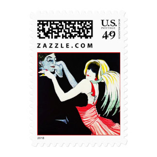 The Masquerade Ball Flapper Dancing Dances Stamps