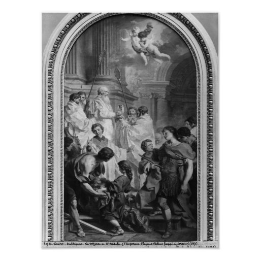 The Mass of St. Basil, before 1747 Poster