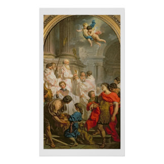 The Mass of St. Basil (oil on canvas) Poster