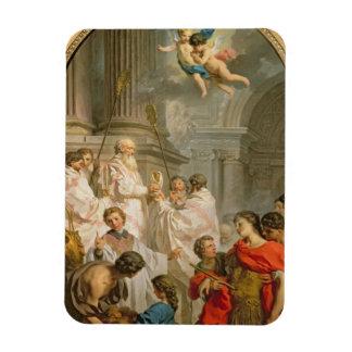The Mass of St. Basil (oil on canvas) Rectangular Photo Magnet