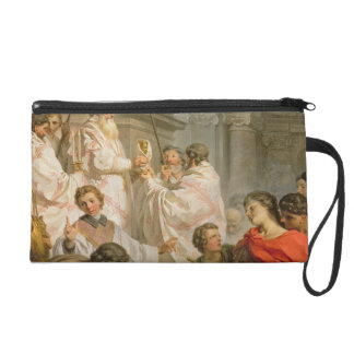 The Mass of St. Basil (oil on canvas) Wristlet Purse