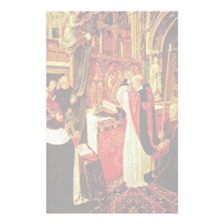 The Mass Of St. Giles By Meister Des Heiligen Ägid Stationery