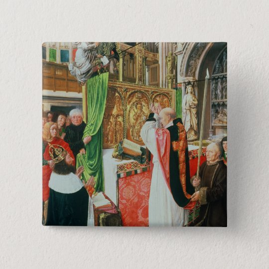 The Mass of St. Giles, c.1500 Button