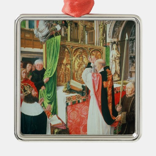 The Mass of St. Giles, c.1500 Christmas Ornaments
