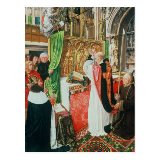 The Mass of St. Giles, c.1500 Postcard