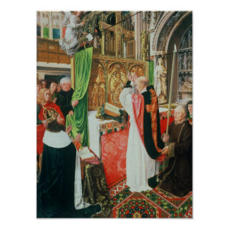 The Mass of St. Giles, c.1500 Poster