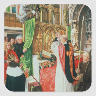 The Mass of St. Giles, c.1500 Square Sticker