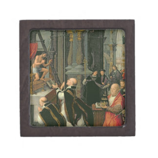 The Mass of St. Gregory (oil on canvas) Jewelry Box