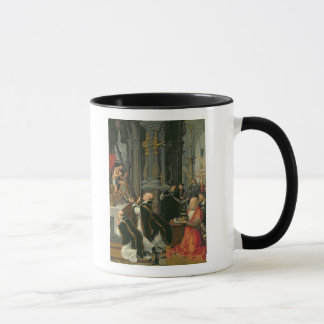 The Mass of St. Gregory (oil on canvas) Mug