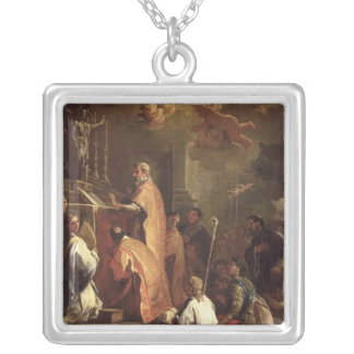 The Mass of St. Gregory Square Pendant Necklace