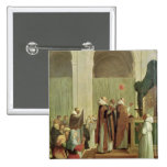 The Mass of St. Martin of Tours, 1654 2 Inch Square Button