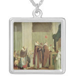 The Mass of St. Martin of Tours, 1654 Square Pendant Necklace