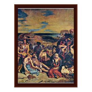 The Massacre Of Chios Postcard