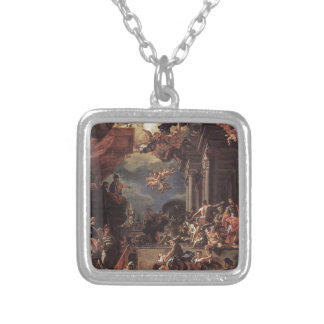The Massacre of the Giustiniani at Chios Square Pendant Necklace