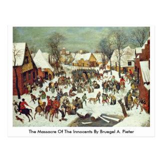The Massacre Of The Innocents By Bruegel A. Pieter Postcard