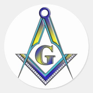 The Master Mason Classic Round Sticker