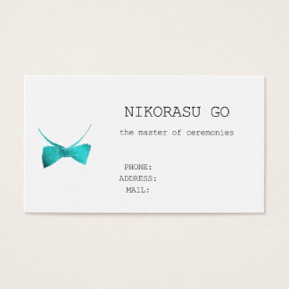 the master of ceremonies business card