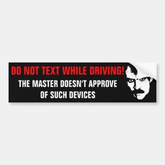 The Master's PSA Bumper Sticker