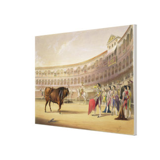 The Matador, 1865 (colour litho) Canvas Print