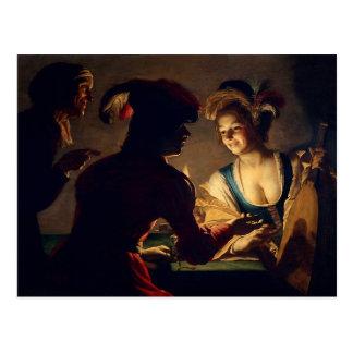 The Matchmaker - Gerrit Van Honthorst Postcard