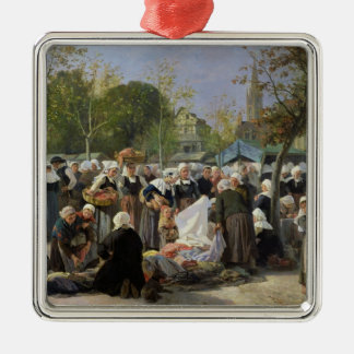 The Material Market Square Metal Christmas Ornament