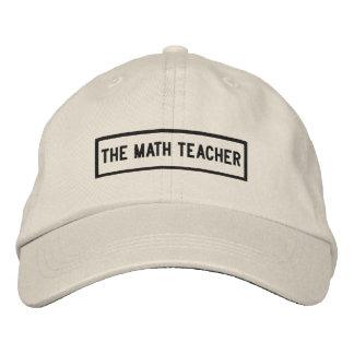The Math Teacher Headline Embroidery Embroidered Baseball Cap