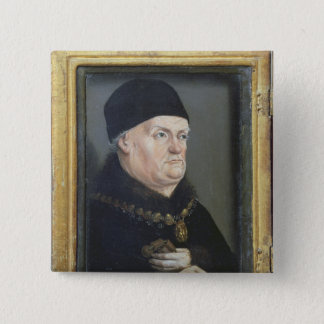The Matheron Diptych: Portrait of Rene I Button