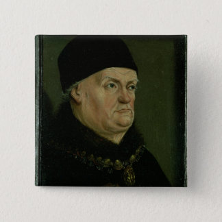 The Matheron Diptych: portrait of Rene I the 'Good Pinback Button